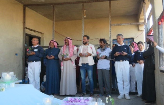 First Buddha Bathing Ceremony cum Ramadan Aid Distribution in Jordan
