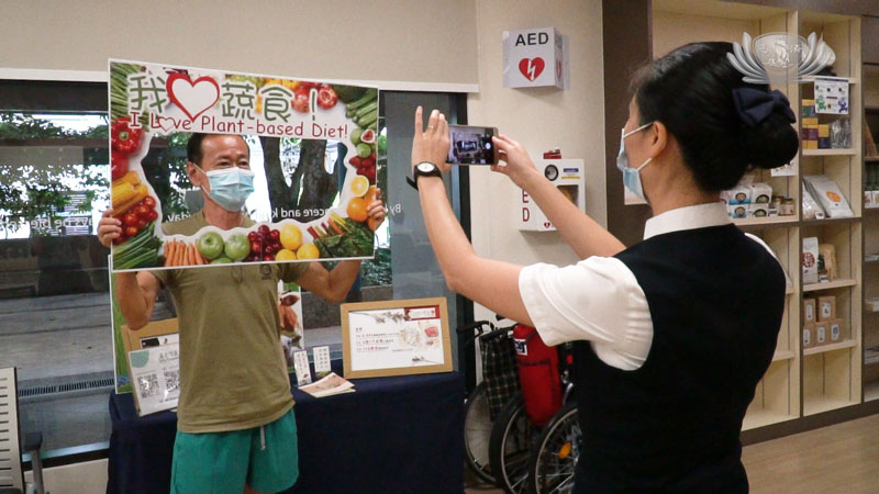 Efforts to promote vegetarianism are sprouting at Tzu Chi Free Clinic in Khatib
